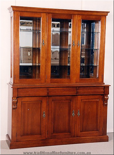 3 Door Panel Carved Buffet and Hutch