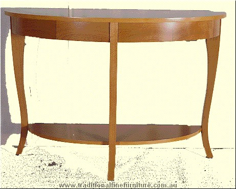 Beech Sofa Table Transparent