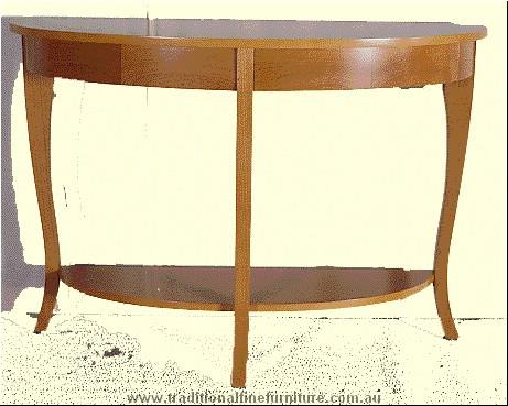 Beech Sofa Table Transparent