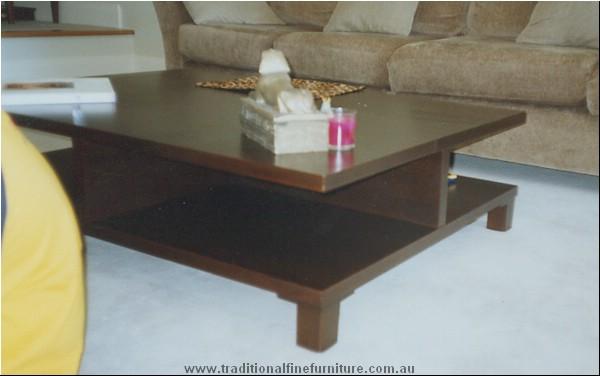 Chocolate Coffee Table Split Level