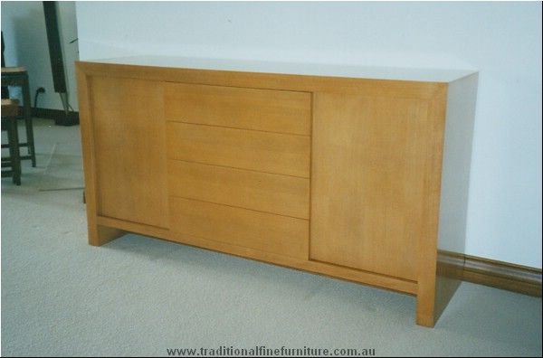 Four Drawer Two Door Buffet Beech