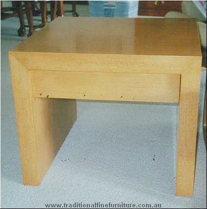 One Draw Lamp Table Beech