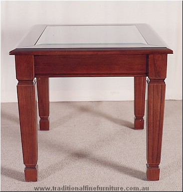 Sheraton Lamp Table Glass Top