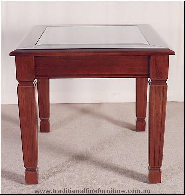 Sheraton Lamp Table Glass Top