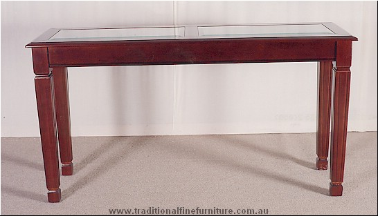 Sheraton Sofa Table Glass Top