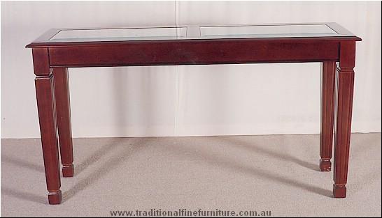 Sheraton Sofa Table Glass Top